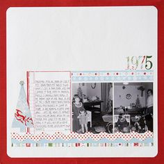 Christmas Memories Scrapbook Page