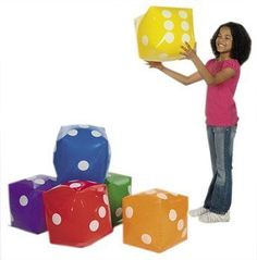 Jumbo Inflatable Dice Decoration - 1 Piece Per Order