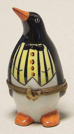 Limoges Penguin with vest