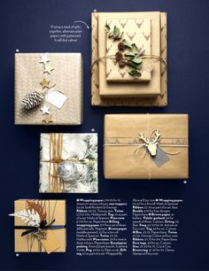 New Christmas wrapping ideas 2016  Thse wraps and festooneries are our favourite Christmas things  See the December issue of Red for more inspiration