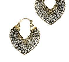 Indian earrings, Gypsy,Tribal ethnic earrings, Tribal fusion, afghan style, Organic jewelry. by NELAJAPAN on Etsy