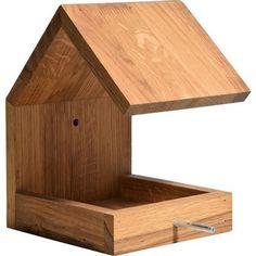 Dobar Design-Vogelhaus Eichenholz mit Satteldach Braun