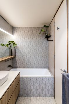 Tiles to Styles: Smart Bathroom Decorating Trends with a Difference - basement bathroom industrial - Basement Bathroom, Small Bathroom, Bathroom Showers, Bathroom Ideas, Bathroom Sinks, Bathroom Wall, 3d Tiles Bathroom, Cozy Bathroom, Neutral Bathroom