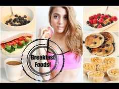 Get Healthy With Me | Breakfast Foods! - YouTube - I like her muffin, pancake, and pita pocket recipes