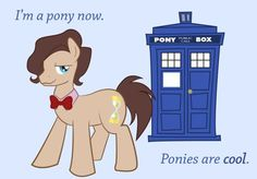 I looked up My Little Pony crossovers because one of my friends likes it. (a college-aged friend! o.o) I do agree that it's cute, though.