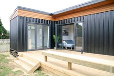 Modern container home designs and basic shipping container home plans. Prefab Shipping Container Homes, Container Homes For Sale, Shipping Container House Plans, Storage Container Homes, Building A Container Home, Container Buildings, Container Home Plans, Container Home Designs, Container Homes Australia