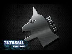 Photoshop tutorial create metal logo