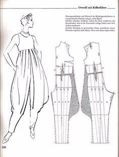and easily alter waistline Clothing Patterns, Dress Patterns, Sewing Patterns, Jumpsuit Pattern, Pants Pattern, Romper Pattern, Pattern Cutting, Pattern Making, Sewing Clothes