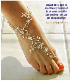 Kirks Folly BAREFOOT BRIDE CRYSTAL ANKLE WRAP in Jewelry & Watches, Fashion Jewelry, Other Fashion Jewelry | eBay