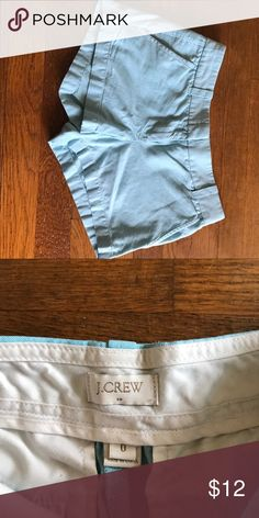 Light blue j crew shorts! Light blue j crew shorts with a 3 in inseam size 0 great condition J Crew Shorts
