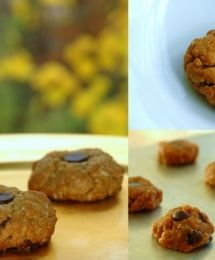 Healthy Peanut Butter Chocolate Chip Cookies