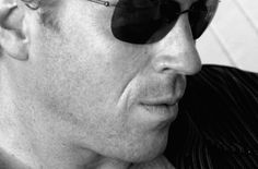 Damian Lewis - a very stylish, European black and white photo.