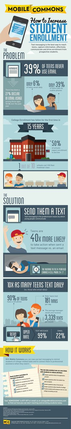 How To Increase Student Enrollment #Infographic #Education