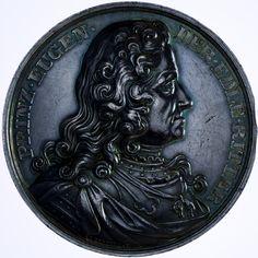 Franz Joseph I. 1848 - 1916 Silbermedaille Prinz Eugen 1865 Med: C. Radnitzky; auf das Reiterdenkmal zur Erinnerung an den Feldherrn Prinz Eugen von Savoyen auf dem Wiener Heldenplatz. Silber