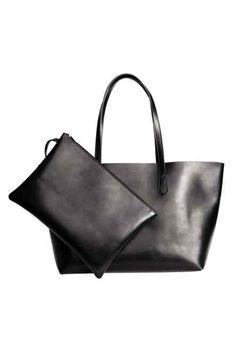 Shopper with a clutch bag