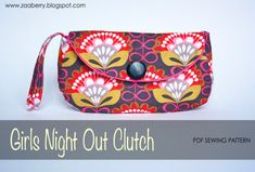 Girls Night Out Clutch  PDF Sewing Pattern by ZaaBerry on Etsy