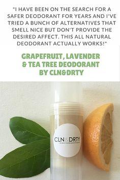 Grapefruit, Lavender & Tea Tree - Natural Deodorant Antiperspirant Stick…