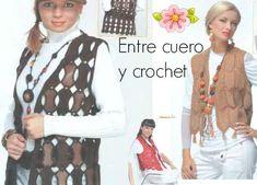Patrones Crochet: Entre crochet y cuero mezcla de tecnicas