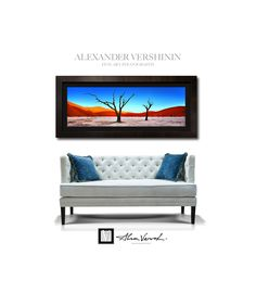 """""""Faded Fantasy"""" new print by fine art landscape photographer Alexander Vershinin, limited edition 55 copies, Lumachrome Gallery Deluxe edition, size 110x250cm. Framed with Dark Ash custime frame and black matte. The best idea for intrerior design. #interior #design #panoramic #landscape #fineart #peterlik #vershinin #landscapephotography #nature #africa #namibia #deadvlei #masterpice #artforsale #interiordesign #lumachrome #fujiflex #limitededition #art #signedphoto"""