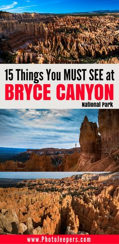 Bryce Canyon National Park, Utah is a beautiful national park in the U.S. It has vast landscape vistas, canyons, and colorful formations like fins, windows and hoodoos that will blow you away. Check out our favorite 15 things to see at Bryce Canyon National Park. We even share some tips on how to take the best pictures in Bryce Canyon National Park! You'll definitely want to read the Bryce Canyon National Park guide and save it to your travel board before your Bryce Canyon National Park…