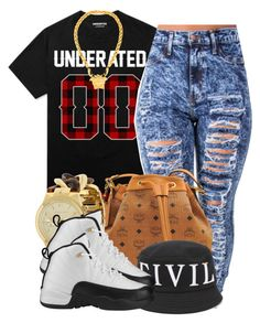 """""""."""" by trillest-queen ❤ liked on Polyvore featuring MCM, Civil, Michael Kors and Versace"""