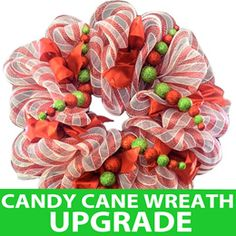 Candy Cane Striped Wreath Upgrade