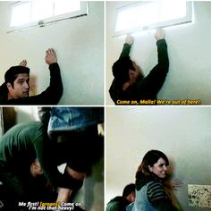 Teen Wolf 6a bloopers - Tyler Posey and Shelley Hennig's breakout.