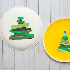 Paper strip Christmas tree - with paper strips