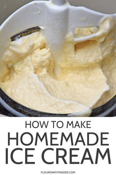 How to make homemade ice cream the old-fashioned way using an ice cream maker. Family recipe for vanilla ice cream, a summer staple for as long as I can remember. Old Fashioned Homemade Ice Cream, Best Homemade Ice Cream, Easy Ice Cream Recipe, Homemade Vanilla Icecream, Soda Pop Ice Cream Recipe, Homemade Icecream Recipes, Old Fashion Vanilla Ice Cream Recipe, Custard Ice Cream Recipe, Sweets