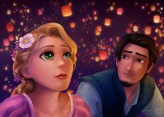 Tangled - Flynn and Rapunzel by MaruExposito.deviantart.com on @DeviantArt