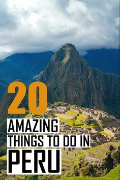 The 20 best things to do in Peru. A massive Peru travel guide with all the information you need to plan your perfect Peru itinerary. All the top tourist attractions and landmarks in Peru. Wondering about the best places to visit in Peru? Then click for all the details.  #travel #peru #traveltips #travelguide #southamerica