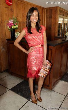 Alexis Mabille dress for Zoe Saldana