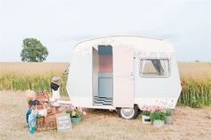 Vintage Caravan Photo Booth from Pretty Pieces Perfect Days - Pretty Pieces Perfect Days