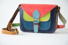 Leather handbag Azules from Ethnofashion by DaWanda.com