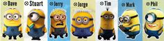 minion characters names - Google Search