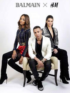 Het eerste campagnebeeld van Balmain X H&M is hier