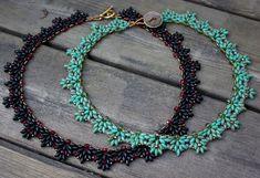 TUTORIAL  Amanda beaded necklace with Super Duo by MadeByOlga, $10.00