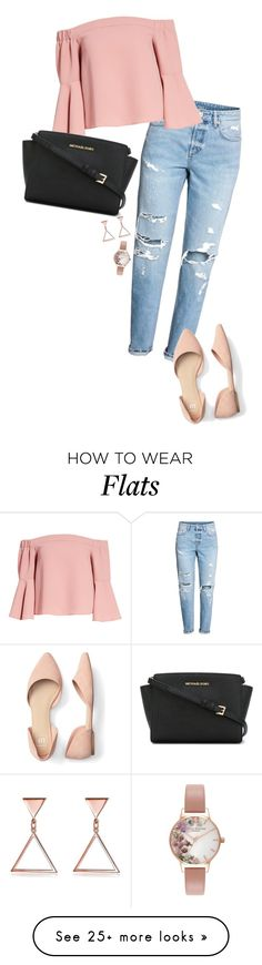 """""""Untitled #114"""" by stefiilala-1 on Polyvore featuring Topshop, MICHAEL Michael Kors and Olivia Burton"""