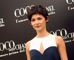 love this tailored, sharp, high-contrast look.  no earring.  and the best pixie in the world.