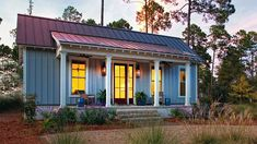 Looking for the best house plans? Check out the Palmetto Cottage plan from Southern Living. Guest House Plans, Southern Living House Plans, Small House Plans, Guest Houses, Cabin Plans, Cottage House Plans, Cottage Homes, Cottage Style, Cottage Bedrooms