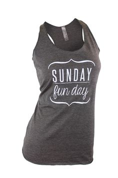 e2a5c05cad83b0 Sunday funday. sunday funday shirt. brunch shirt. by missFITTE Funny Tank  Tops
