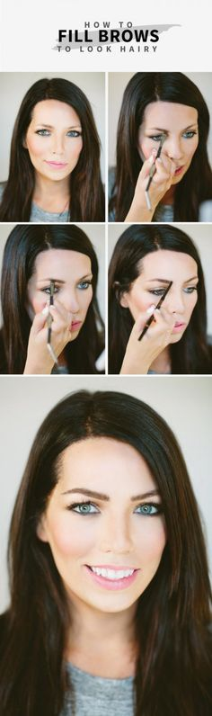 How to Fill in Brows Naturally - #eyebrows #brows #eyemakeup #browtutorial #maskcara