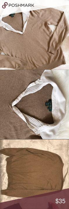 """Ralph Lauren silk and Cashmere blouse! Excellent condition, size XL. 85% silk 15% Cashmere. Armpit to armpit 18.5"""" Armpit down 15"""" Shoulders down 21.5"""" Ralph Lauren Tops Blouses"""