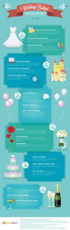 Save money #budgetweddinginfographics #weddingtips http://brieonabudget.com/