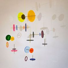 LMC Mobile from Jordi Canudas Studio, 2017 4 Bauhaus, Mobile Art, Hanging Mobile, Mobile Sculpture, Sculpture Art, Design Show, 3d Design, Studio Design, Used Cell Phones