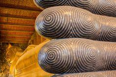 Great Buddha at Wat Pho, Bangkok, Thailand.