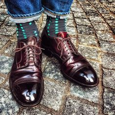 2016/11/06 17:45:20 yutaso24 2016.11.6 ・ ・ 今日の足元は、 ・ ・ 【オールデン】 ・ ・ 靴下はドット柄をチョイスしました😁 ・ ・ パンツはリゾルト710👖 ・ ・ 今日は最高のコードバン日和でした🌞笑 ・ ・ 明日はなにを履こうかなー?🎶 ・ ・ #オールデン #Alden #コードバン #cordovan #足元倶楽部 #足元クラ部 #革靴 #靴磨き楽しい #経年変化 #スナップ #コーデ #コーディネート #snapshot #shoes #code #fashion #foto #靴バカ #リゾルト710 #リゾルト #色落ち #pic #picture #ドット柄