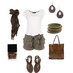 little bit of a saffari look.... created by olmy71 on Polyvore