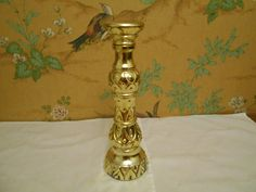 Gold Candlestick Post Prohibition decanter (Empty bottle) by SETXTreasures on Etsy