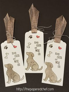 Happy Tails Bookmark Tutorial - 2019 Occasions Catalog - Productivity Tips - Stamparatus & ScanNCut - The Papered Chef Paper Bookmarks, Crochet Bookmarks, Creative Bookmarks, Pet Sympathy Cards, Make Your Own Card, Wink Of Stella, Dog Cards, Dog Ornaments, Animal Cards